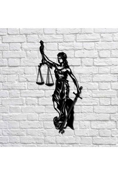 Bafidica Adaletin Kadını Metal Duvar Tablo