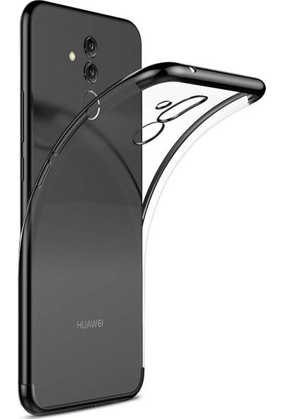 Case 4U Huawei Mate 20 Lite Kılıf Silikon Arka Kapak - Glitter - Siyah