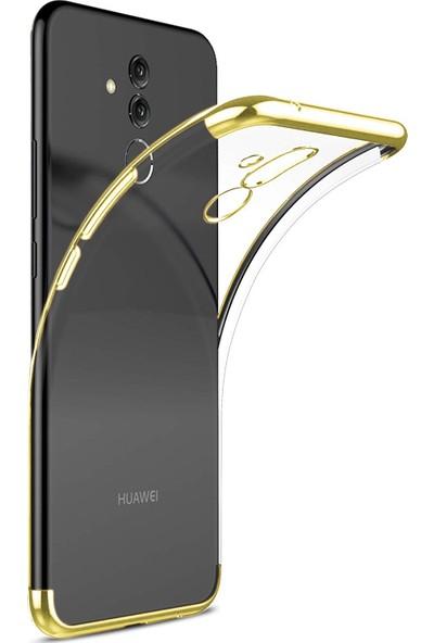 Case 4U Huawei Mate 20 Lite Kılıf Silikon Arka Kapak - Glitter - Altın