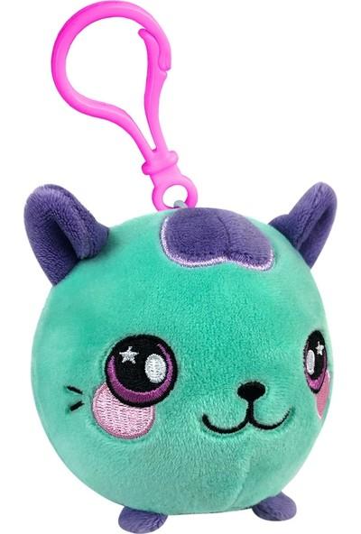 Squeezamals Mıncıkla Sıkıştır Kokulu Anahtarlık Mavi Kedi