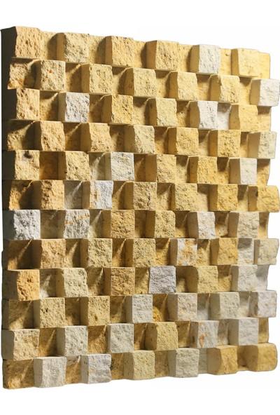 Kaptaş Kapadokya Doğal Taş Fileli Mozaik Ek20 Kubik Patlatma