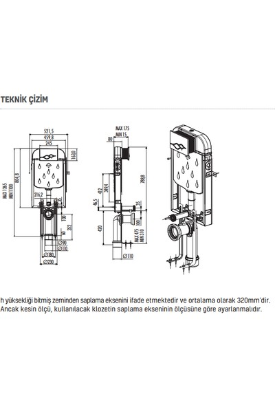 Creavit Gömme Rezervuar Gr5001 Klozet