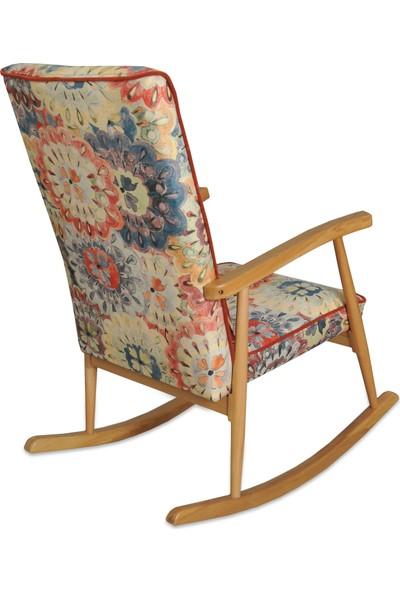 Asedia Teksas Naturel Döşemeli Sallanan Sandalye