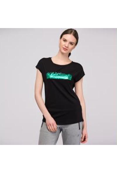 New Balance Kadın Siyah Tshirt Wt1855-B00