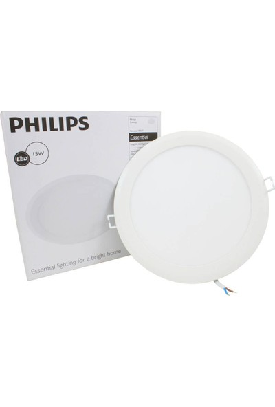 Philips Downlight 15W Essential Yuvarlak Led Spot Panel 8'' Beyaz Işık