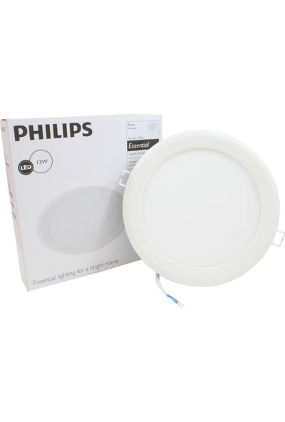 Philips Downlight 13W Essential Yuvarlak Led Spot Panel 7'' Beyaz Işık