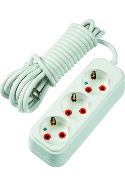 Profitec 3'Lü Topraklı Uzatma Kablosu 5 Metre