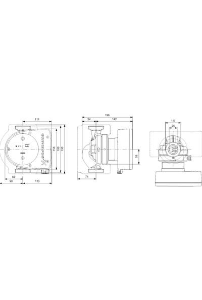 Grundfos - Magna1 25-60 180 1X230V Pn10