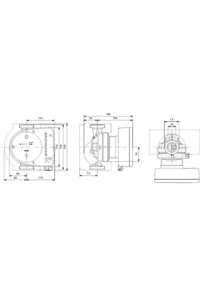 Grundfos - Magna1 25-80 180 1X230V Pn10
