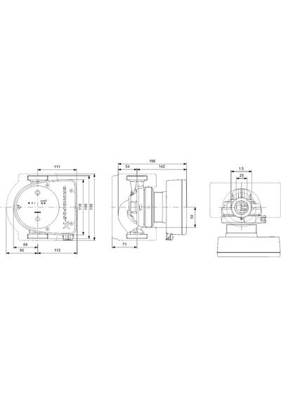 Grundfos - Magna1 25-100 180 1X230V Pn10