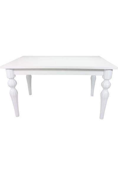 Sarıkaya Mobilya Tornio Yemek Masası 140 x 80 cm Beyaz