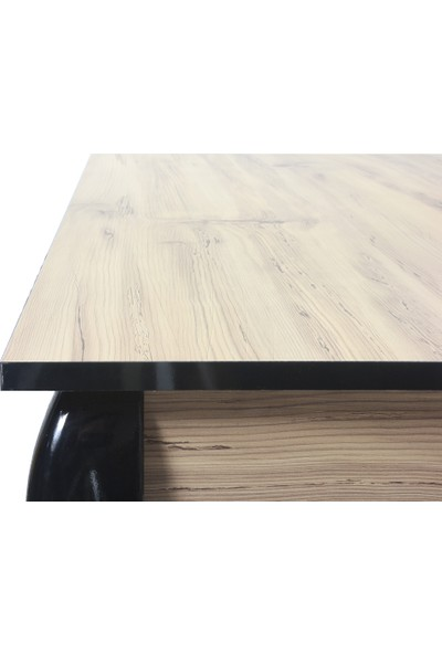 Sarıkaya Mobilya Lussuria Yemek Masası 140 x 80 cm Beyaz x Keçe