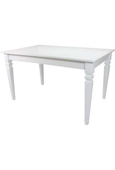 Sarıkaya Mobilya Taux Yemek Masası 140 x 80 cm Beyaz