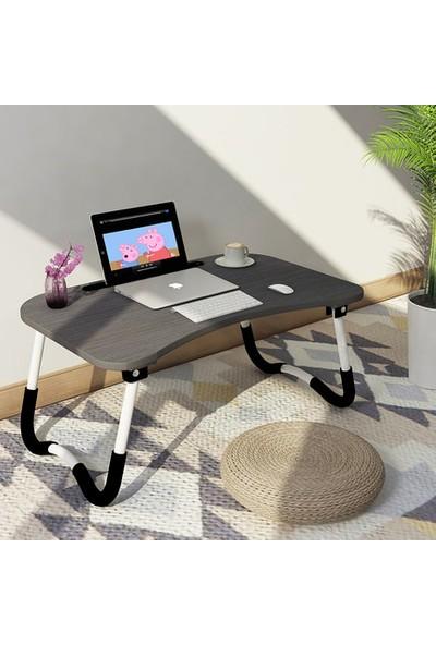 Hodbehod Yatak Koltuk Üstü Laptop Masası - Gri