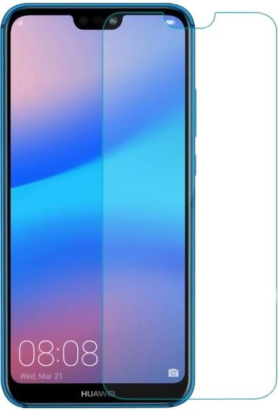 DVR Huawei P20 Lite Kılıf Silikon Dört Köşeli Lazer Kapak (Rose Gold) + Cam Ekran Koruyucu