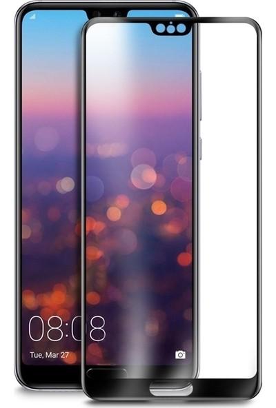DVR Huawei P20 Pro Silikon Kılıf Ravel Soft Yüzüklü Standlı (Siyah-Kırmızı) + Tam Ekran Cam Koruyucu