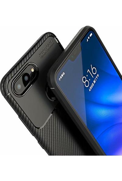 DVR Xiaomi Mi 8 Lite Kılıf Silikon Negro Karbon Darbe Emici (Siyah)