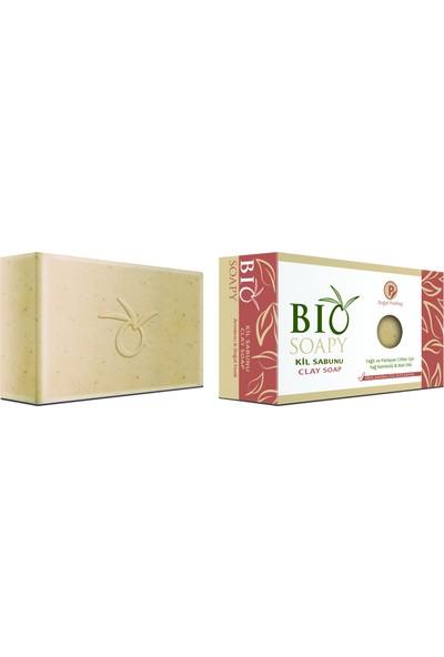 Biosoapy Kil Sabunu 100 gr. (Detoks Peeling Sabunu) Yağlı Ve Parlayan Ciltler İçin Yağ Kontrolü Ve Mat Etki