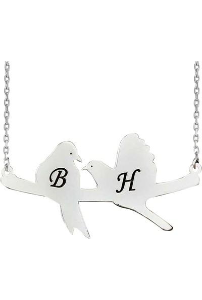 Grandhanra Kuş Harf Gümüş Kolye