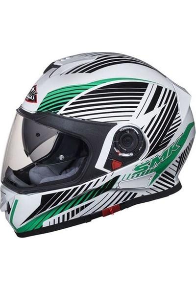 SMK Twister Fluid Yeşil/Beyaz Kask