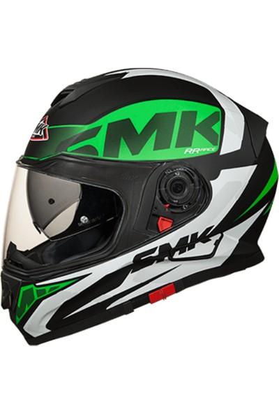 SMK Twister Logo Mat Kask | Yeşil