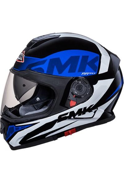 SMK Twister Logo Mat Kask | Mavi