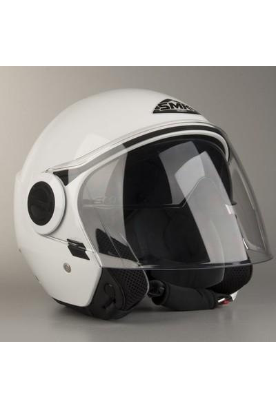 SMK Cooper Açık Kask | Beyaz