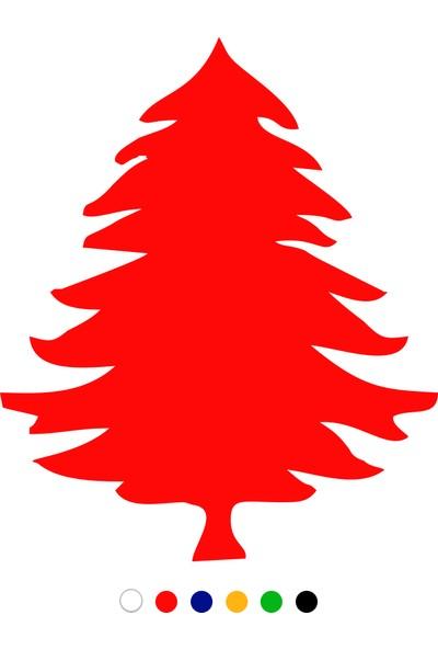 New Jargon Yılbaşı Ağacı Sticker Çıkartma Süsleme - Kırmızı
