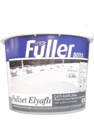 Füller Fullset Elyaflı Çatı Kaplama 15 Litre Beyaz