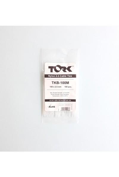 Tork Beyaz Kablo Bağı 2,5X100