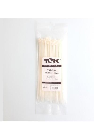 Tork Beyaz Kablo Bağı 3,6X250