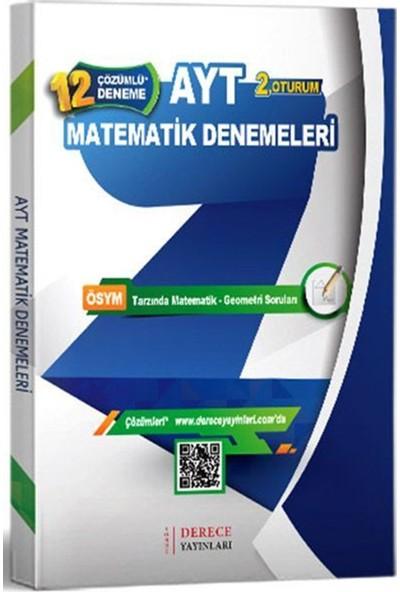 Derece Yayınları Yks 2. Oturum Ayt Matematik Geometri Çözümlü 12 Deneme