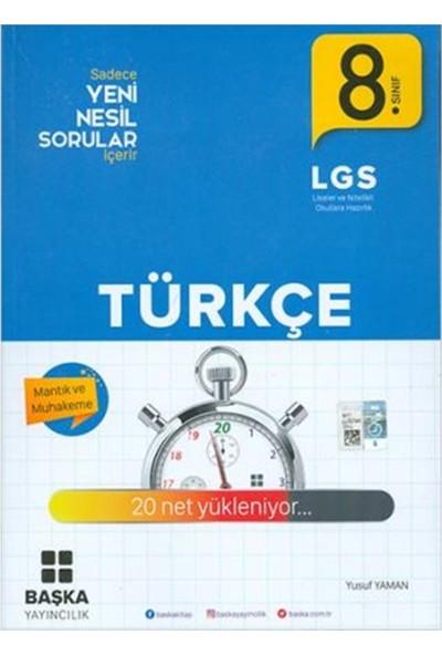 Başka Yayıncılık 8.Sınıf LGS Türkçe Yeni Nesil Sorular