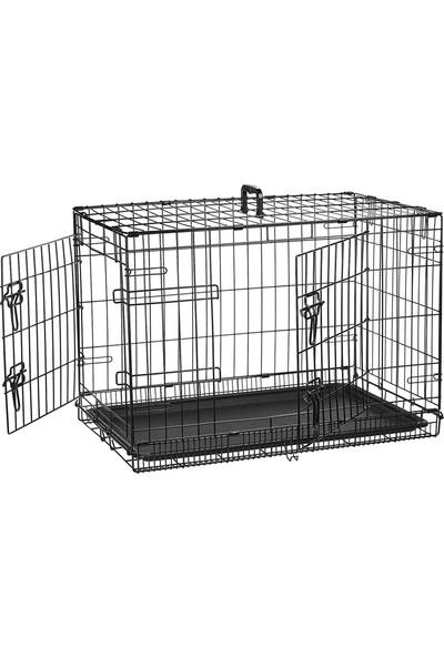 Best Cage 122X75X82 Cm İki Kapılı Katlanabilir Metal Köpek Kafesi