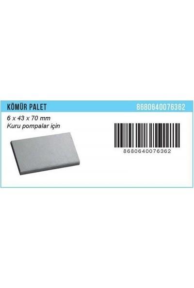 Bartech Palet Kömür 1 Adet 6*43*70 Mm