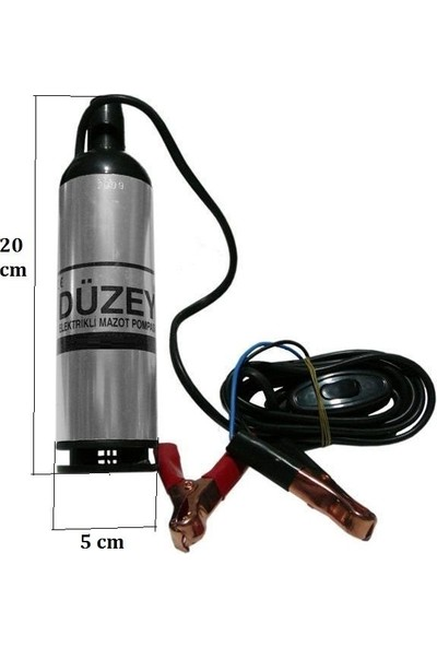 Düzey Dalgıç Mazot Pompası 12 Volt Büyük