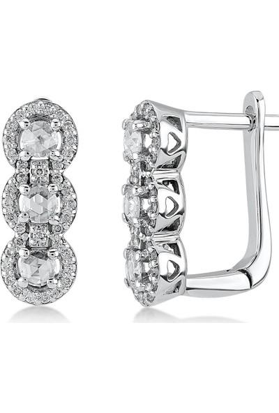 D Diamond 0,36 Karat Pırlanta Elmas Küpe (Altın)