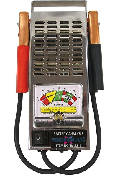 Technomax Tm-9216 Akü Test Cihazı Analog 6/12V 125A Profesyonel