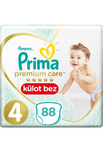 Prima Premium Care Külot Bebek Bezi 4 Beden Maxi Süper Fırsat Paketi 88 Adet
