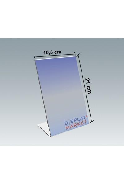 Akrilik Pleksi L Tipi 10,5x21 cm Dikey Föylük