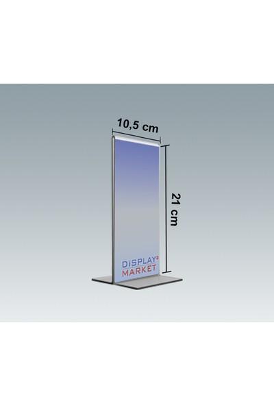 Akrilik Pleksi T Tipi 10,5x21 cm Dikey Föylük