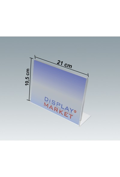 Akrilik Pleksi L Tipi 10,5x21 cm Yatay Föylük
