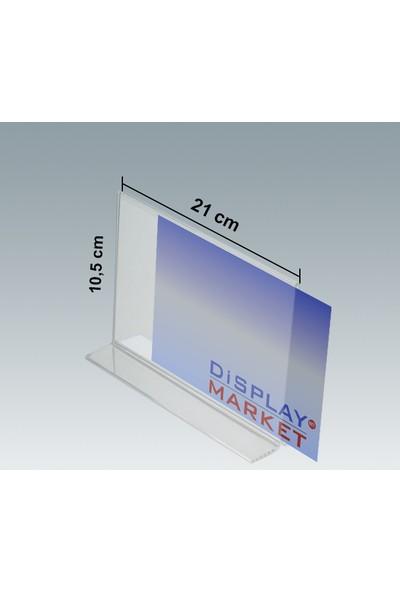 Akrilik Pleksi T Tipi 10,5x21 cm Yatay Föylük