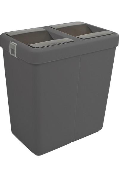 Motek Ofis İçin Hassas Kapaklı Çöp Kutusu 80 Lt Siyah
