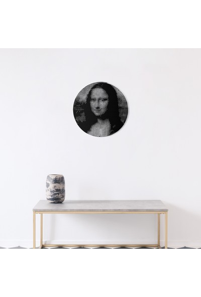 Artepera Mona Lisa Circle Metal Tablo - APT105 49 x 49 cm
