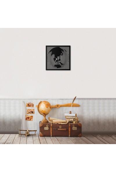 Artepera Globes Metal Tablo - APT171 45 x 45 cm