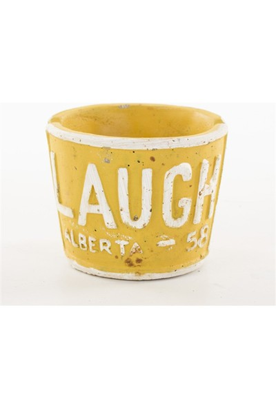 Euro Flora Sarı Seramik Saksı Laugh 9x7 Cm