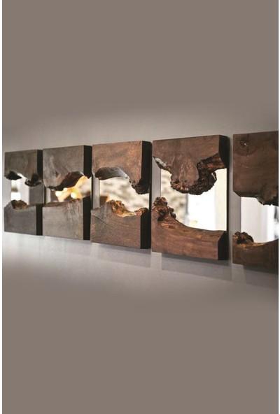 Qtük Asimetrik Duvar Aynası 30 cm (1 Adet)