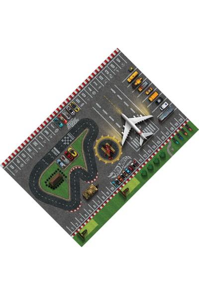 Cici Halı Örtüsü Çocuk Oyun Halısı Hotwheels ve Need For Speed Halı Örtüsü-120x180