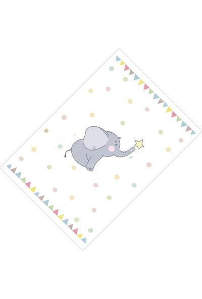 Cici Halı Fil Bayrak ve Yıldız Erkek Çocuk Halısı-133x190